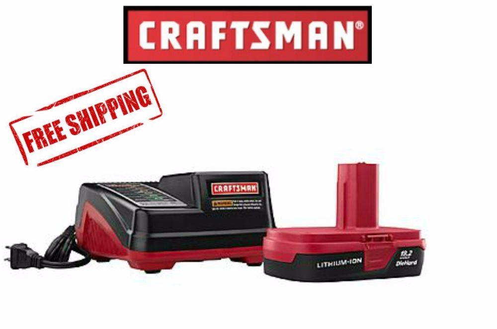 Craftsman Battery C3 19.2-Volt Li-Ion Compact + 30 min Multi Charger Starter Kit #Craftsman