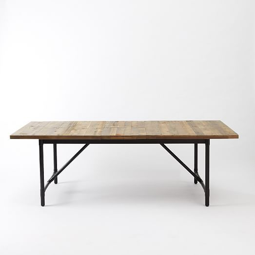 West Elm Logan Industrial Expandable Dining Table 799 Liked On Polyvore Featuring Expandable Dining Table West Elm Dining Table Contemporary Dining Table