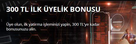 Betboou2019dan 300 TL u0130lk u00dcyelik Bonusu