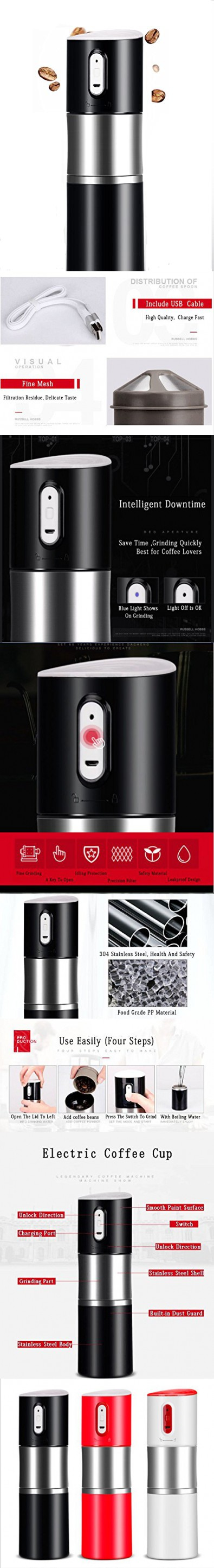 Portable Coffee Grinder/Mini Espresso Coffee Maker Grind