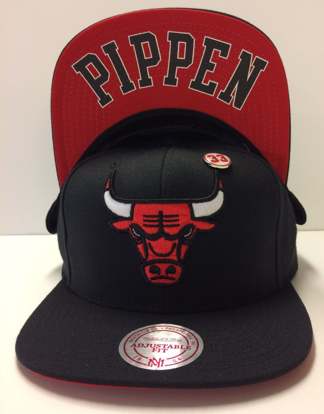 ce8d31c5817 Scottie Pippen Chicago Bulls  33 Mitchell   Ness NBA Snapback Hat Cap Omni  Pin