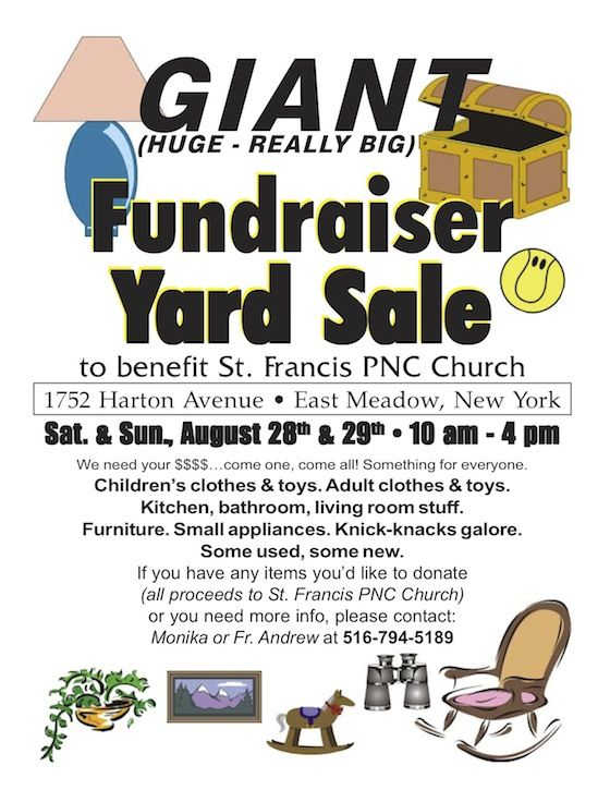 Yard Sale Yard Sale Fundraiser Sale Flyer