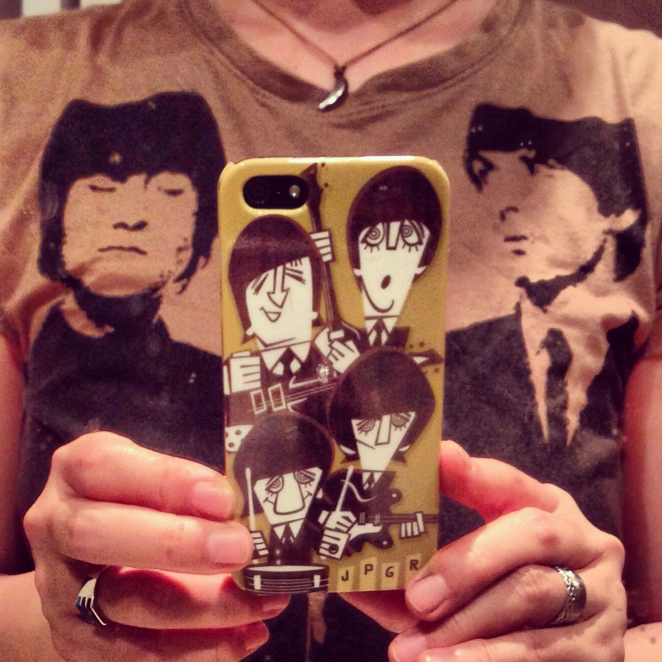 The Beatles   iPhone cover by myself!