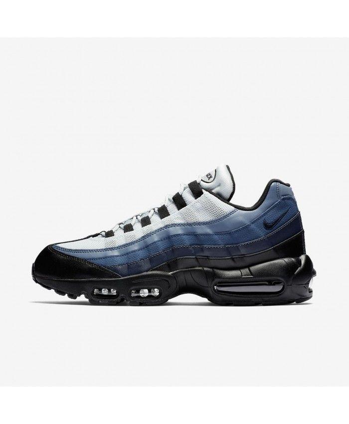 f14f4f5f6d862 Nike Air Max 95 Essential Black Navy Blue Pure Platinum Obsidian 749766-028