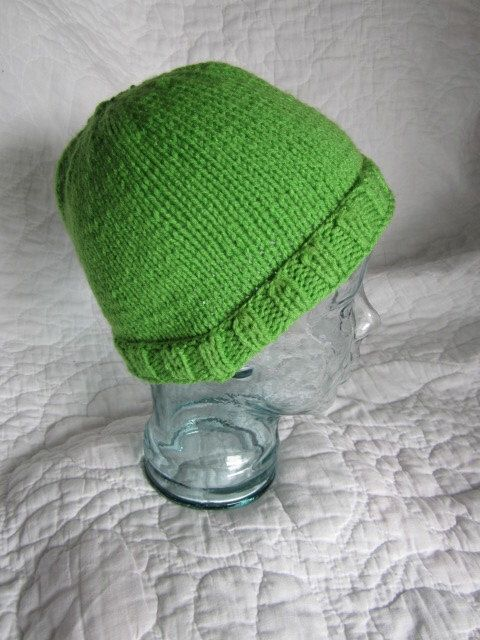 A personal favorite from my Etsy shop https://www.etsy.com/listing/158814681/warm-green-knitted-hat