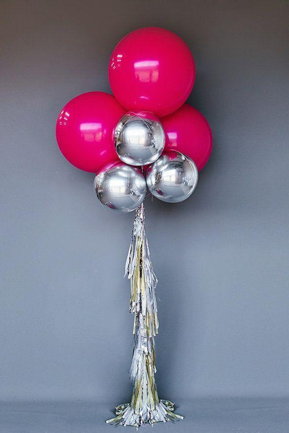 Silver + Gold Balloon Set for party color ideas 婚佈 Pinterest - imagenes de decoracion con globos