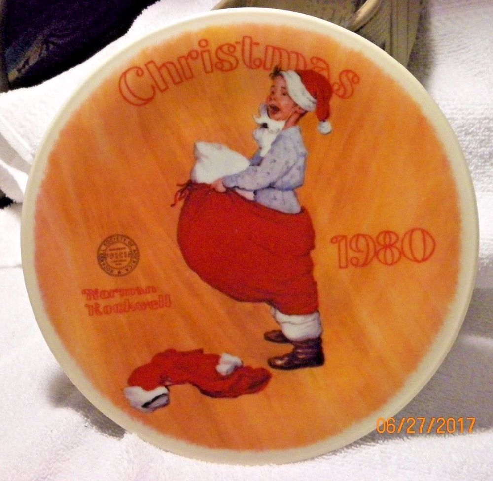 Norman Rockwell 1980 Christmas Plate \