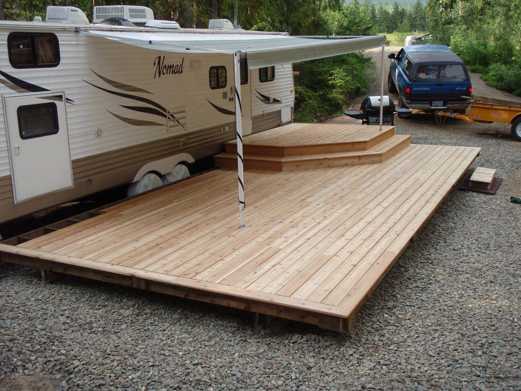 Deck builder deckworks contractingdeck portfolio for Rv deck plans
