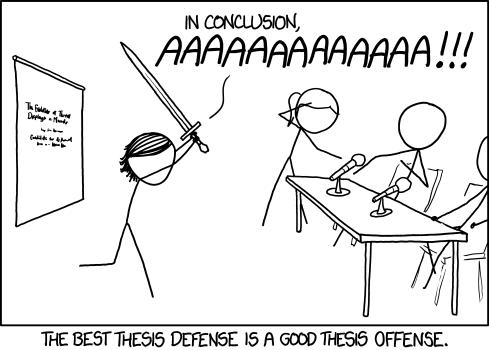 Xkcd Thesi Defense Phd Humor Student Grad Amy Foley Dissertation