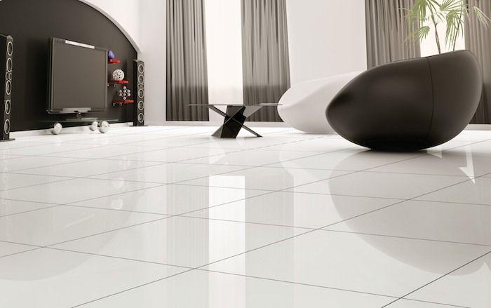ein modernes Wohnzimmer mit Designer Möbel und Design Boden in ...