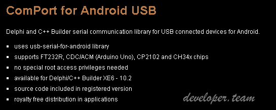 ComPort for Android USB Serial 2.6 Full Source