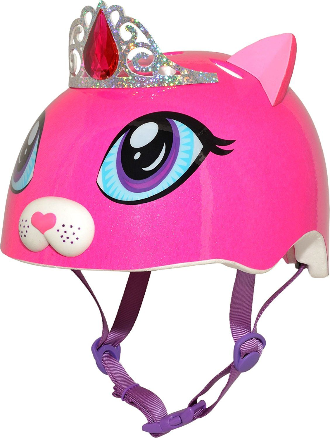 47e8a0187cf Amazon.com : Raskullz Duchess Meow Girls Bike Helmet : Sports & Outdoors