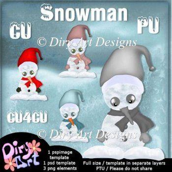 * Snowman Template *