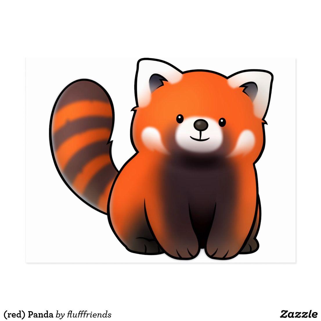 Red Panda Postcard Red Panda Cartoon Panda Drawing Panda Art