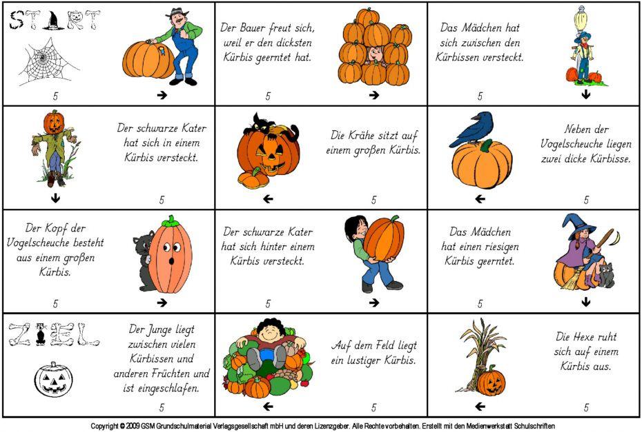 Kürbisse-Lese-Domino | Daf Daz | Pinterest | Wissen, Kürbis und Herbst