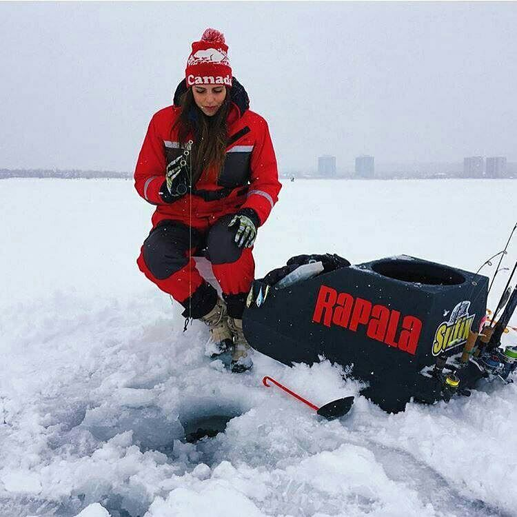 Ice fishing. Only the strong survive! Icefishing