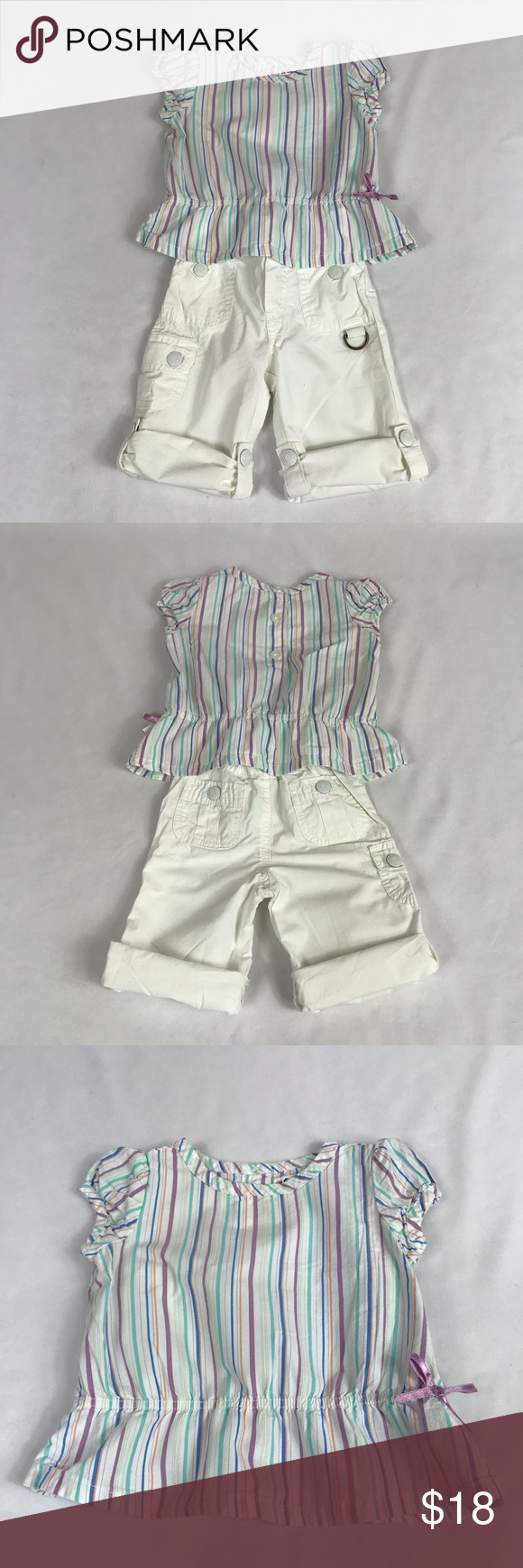 Outfits & Sets Clothing, Shoes & Accessories Hot Sale 12 18 M Custom Made Blue Top Shorts Outfit Guc Bloomers A Great Variety Of Models