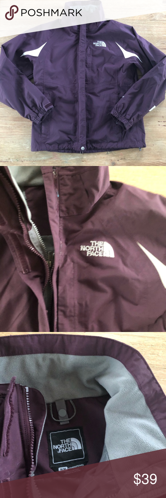 The North Face Hyvent Waterproof Jacket M The North Face Double Zip Waterproof Jacket Womens M Burgundy Maroon Waterproof Jacket North Face Hyvent Jackets [ 1740 x 580 Pixel ]