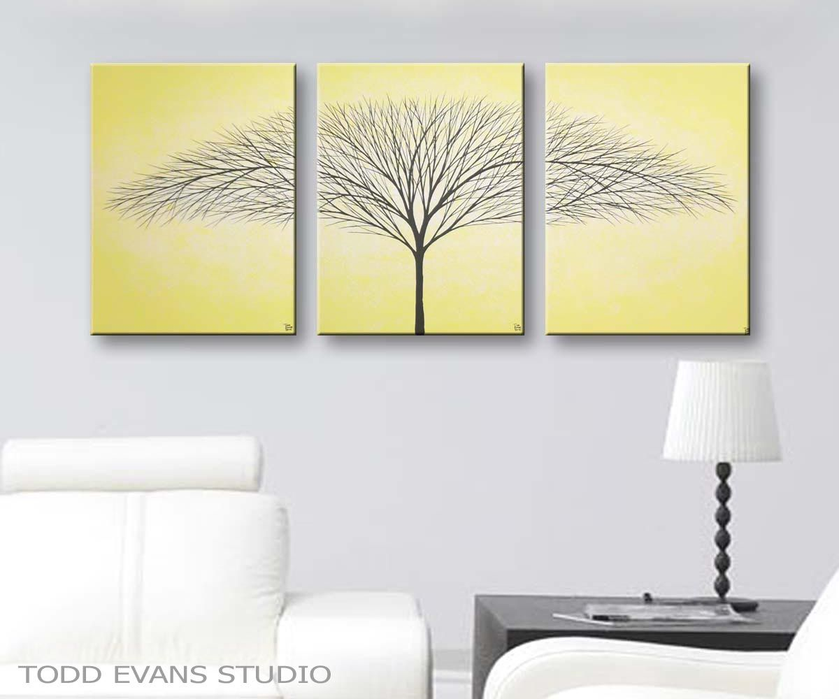 Yellow Canvas Art Wall Art Home Decor living room decorating ideas ...