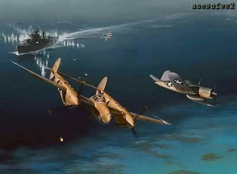 P-38 Lightening and F-4AU Vaught Corsair