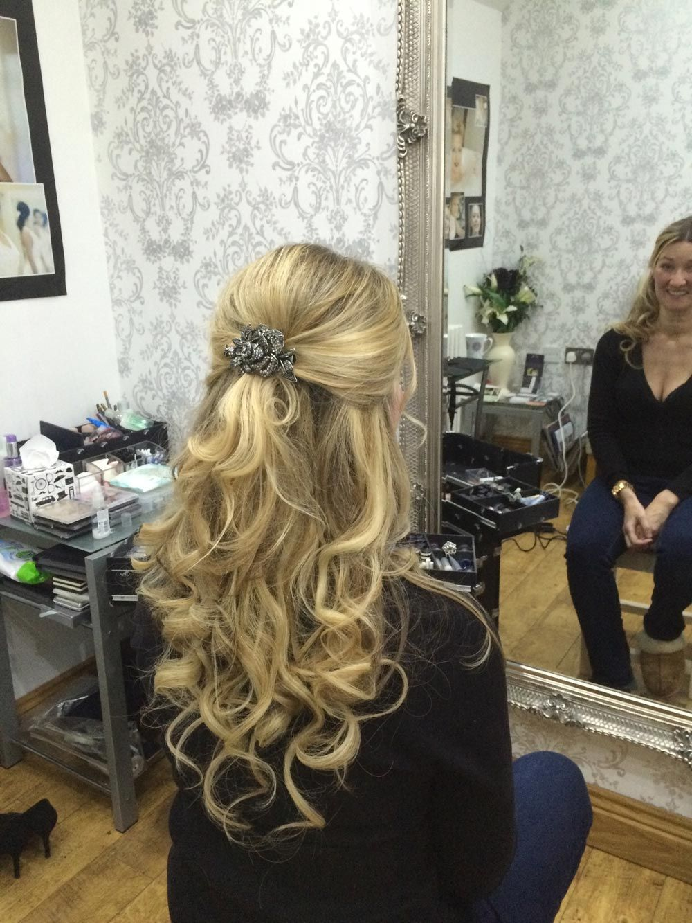 half up half down wedding guest hairstyle