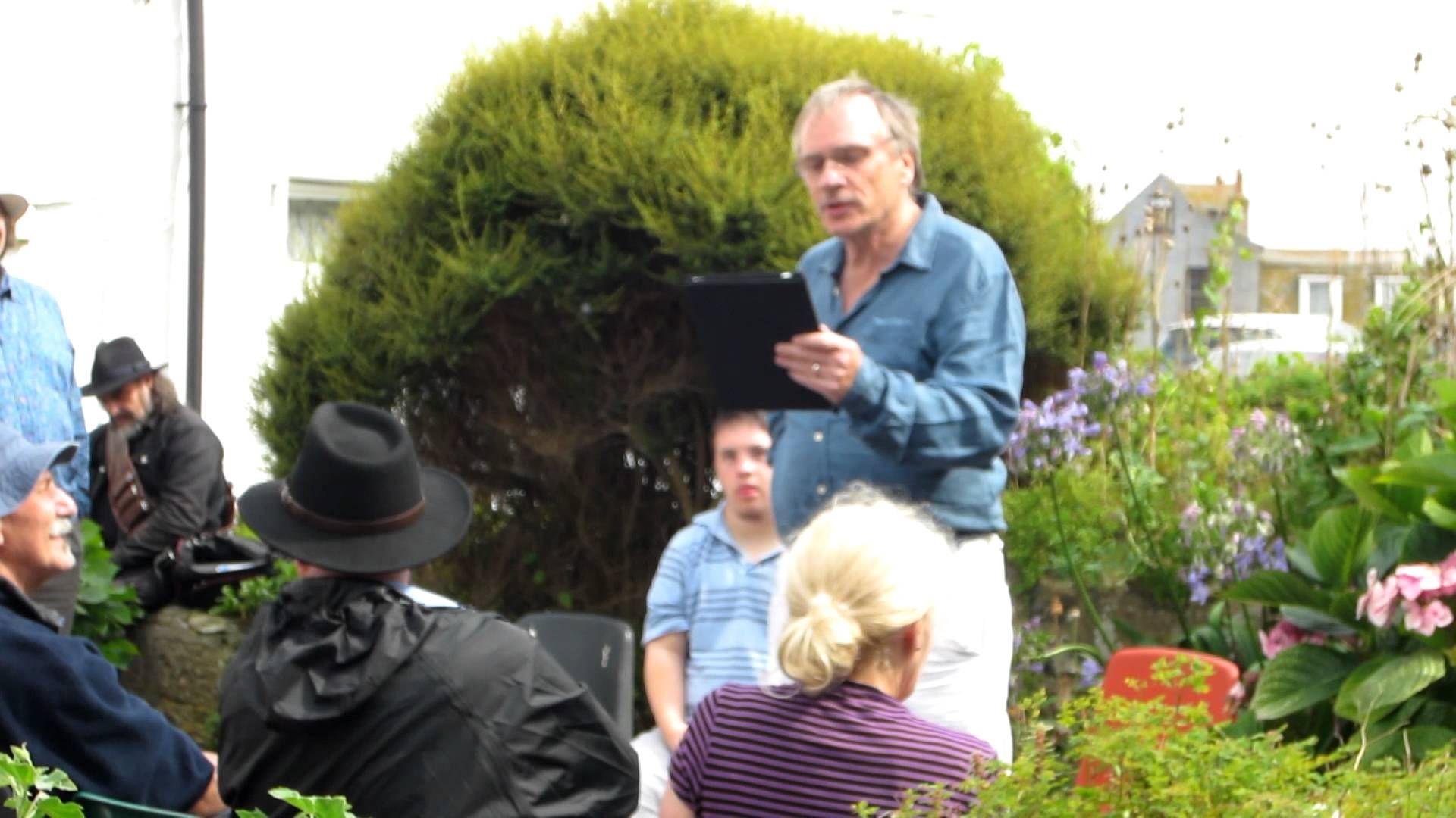 John Lavan recites a poem for his son, who he introduces