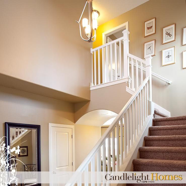 CandlelightHomes.com, Utah, Homebuilder, Staircase, Stairs, White Railing