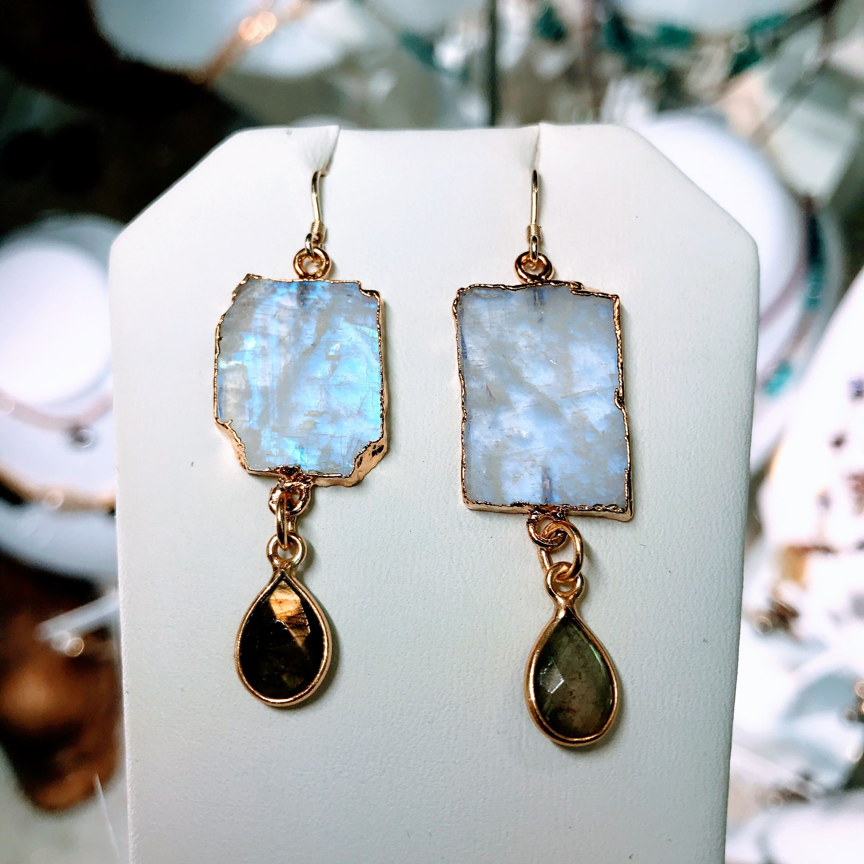 Moonstone /& Labradorite Drop earrings