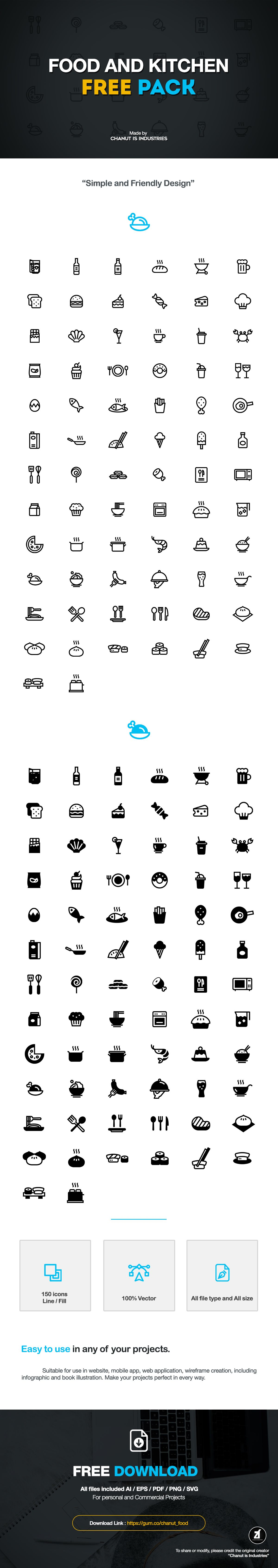 Commercial Kitchen Design App Free Free Food And Kitchen Icons By Chanut Is Industries On Behance