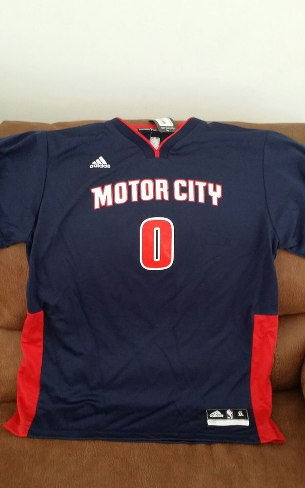 official photos 5af9a a07ad Adidas Detroit piston motor city andre Drummond nba jersey ...
