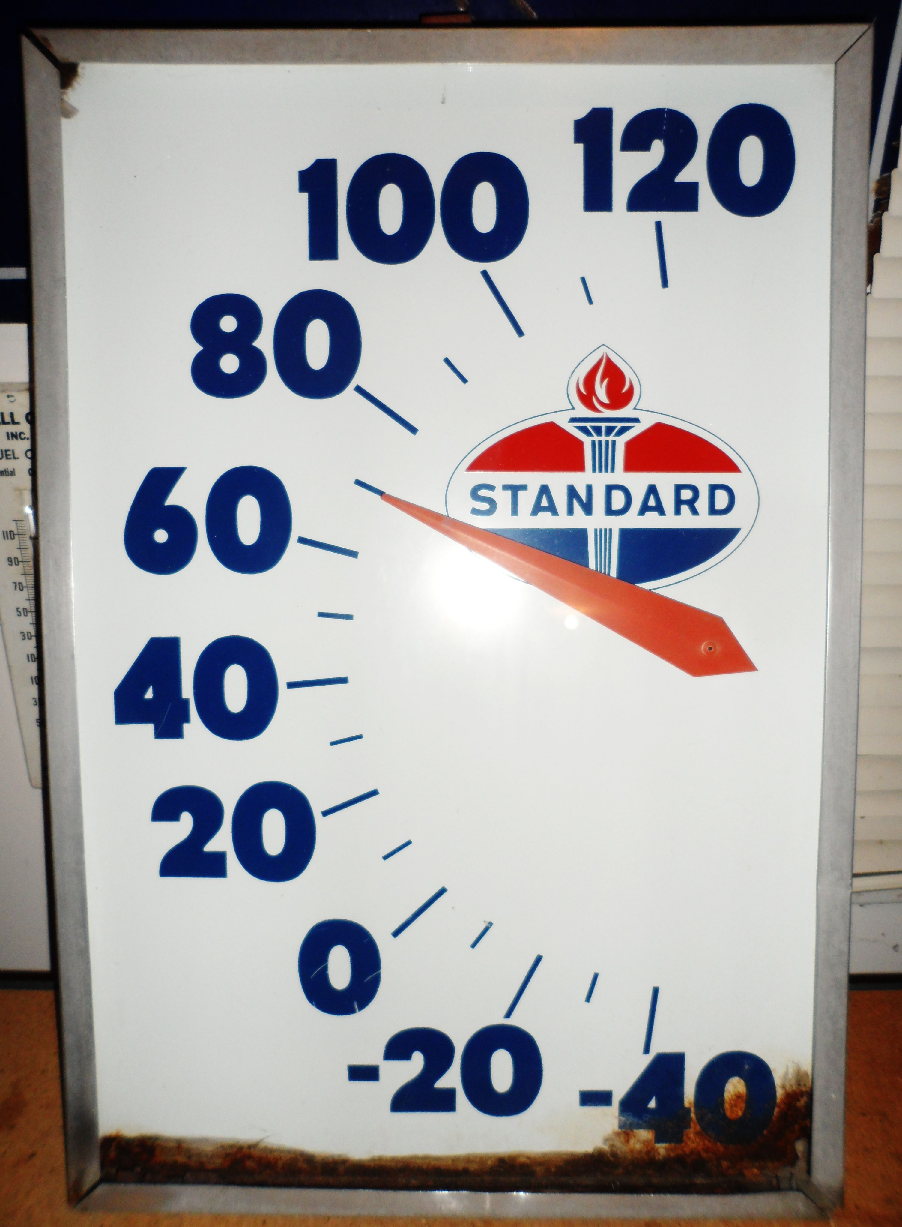 Extremely rare vintage standard oil picture frame