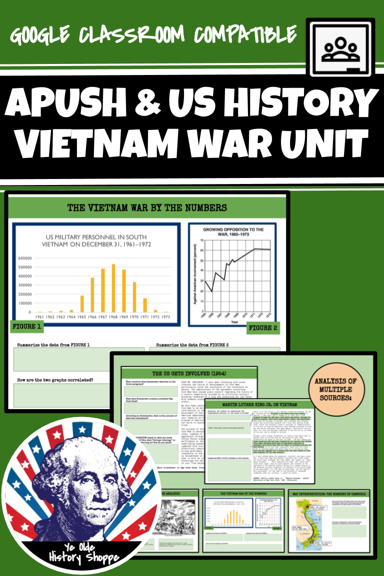 This VIETNAM WAR UNIT BUNDLE is a comprehensive unit that ...
