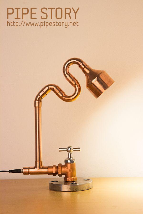 pingl par pipe story sur pipe lamps pinterest tuyau cuivre et deco. Black Bedroom Furniture Sets. Home Design Ideas