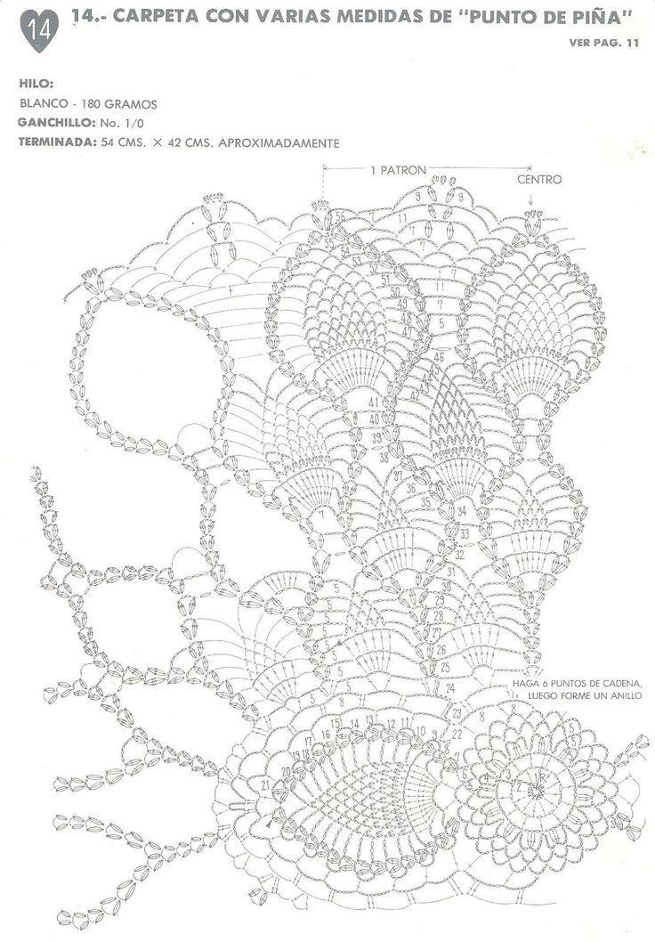 TAPETES++CROCHET+004.jpg (1113×1600) | serwety | Pinterest | Crochet ...