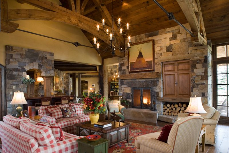 lovely hearth rooms #4: Attractive Hearth Rooms #3: Another View Of The Spanou0027s Hearth Room  Shows The Warm ...