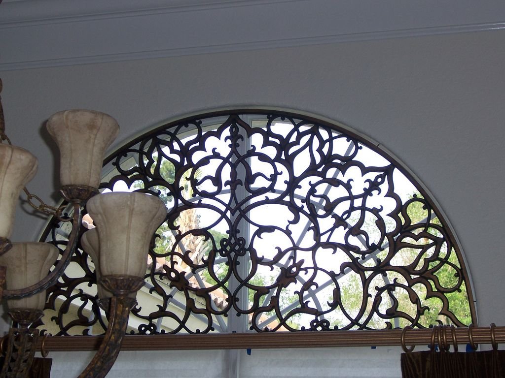 Faux Wrought Iron Transom Arched Window Insert In 2019