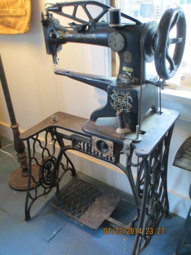 Antique Industrial Singer Sewing Machine 29 4 Leather Cobbler Textile Ca 1906 Singer Sewing Machine Sewing Machine Singer Sewing