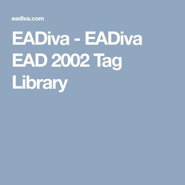 Eadiva Eadiva Ead 2002 Tag Library Library Tags Understanding