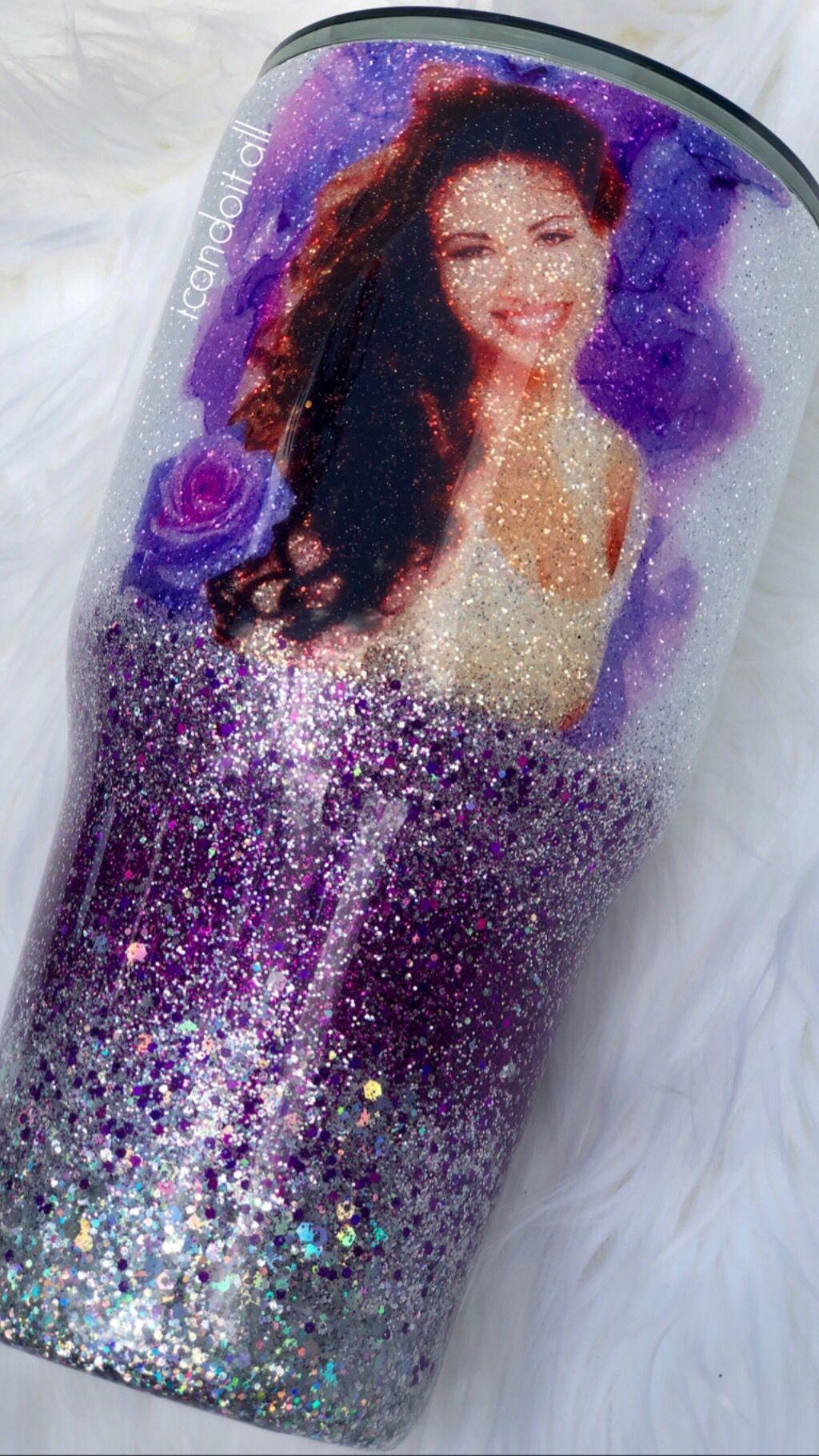 Selena Quintanilla Glitter Tumbler