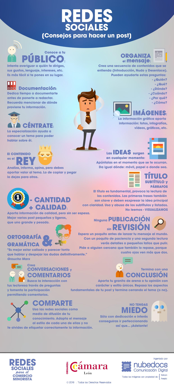 Redes Sociales: consejos para hacer un post #infografia #infographic #socialmedia