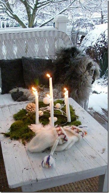 Skandinaavista tyyliä talvisella terassilla - Scandinavian style: porch in winter