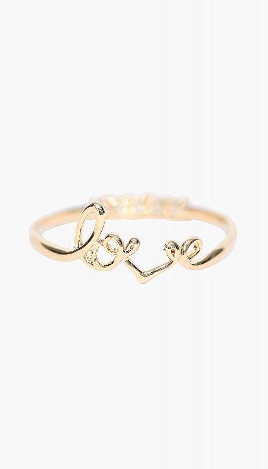Diamond Love Ring in Gold