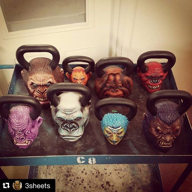 Onnit kettlebells painted so sick. kettlebell wishlist
