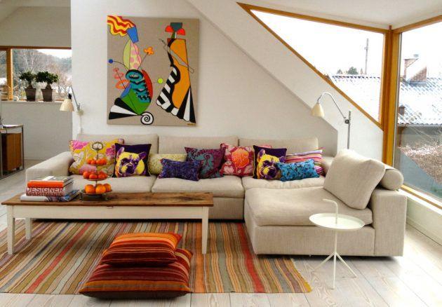 17 coole Ideen für ein Wohnzimmer mit Kissen   Kleine zimmer einrichten, Zimmer einrichten und ...