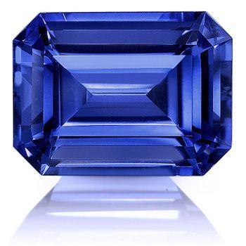 MAN MADE BLUE SAPPHIRE 14 X 12 MM EMERALD CUT BEAUTIFUL COLOR AAA