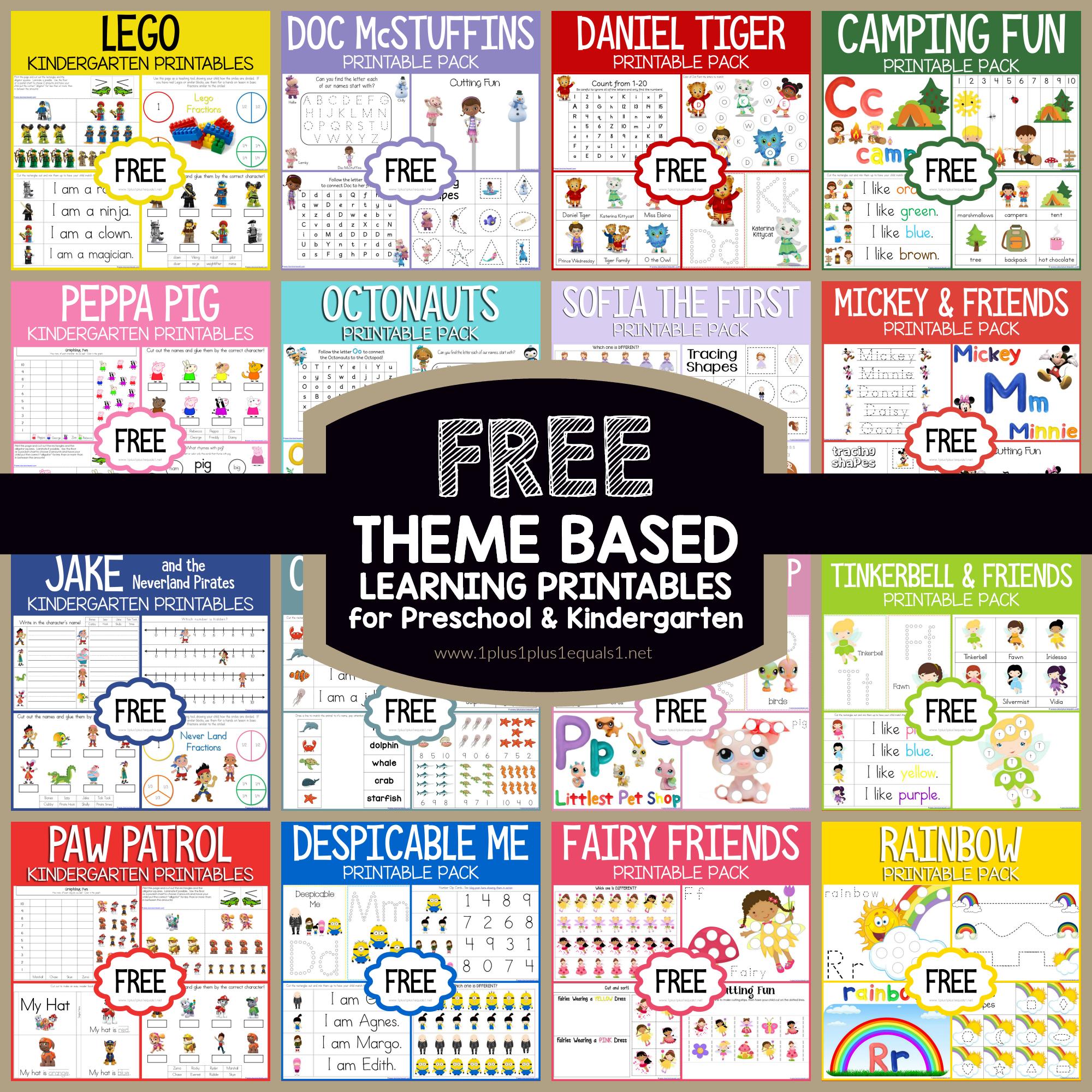 Free Theme Based Printables Learning Printables Mickey Mouse Preschool Theme [ 2000 x 2000 Pixel ]