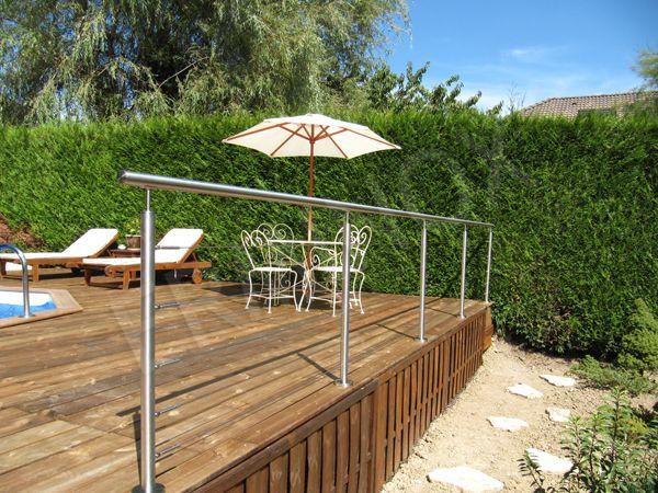 garde corps inox et cable design ext rieur garde corps pour terrasse en inox pinterest. Black Bedroom Furniture Sets. Home Design Ideas
