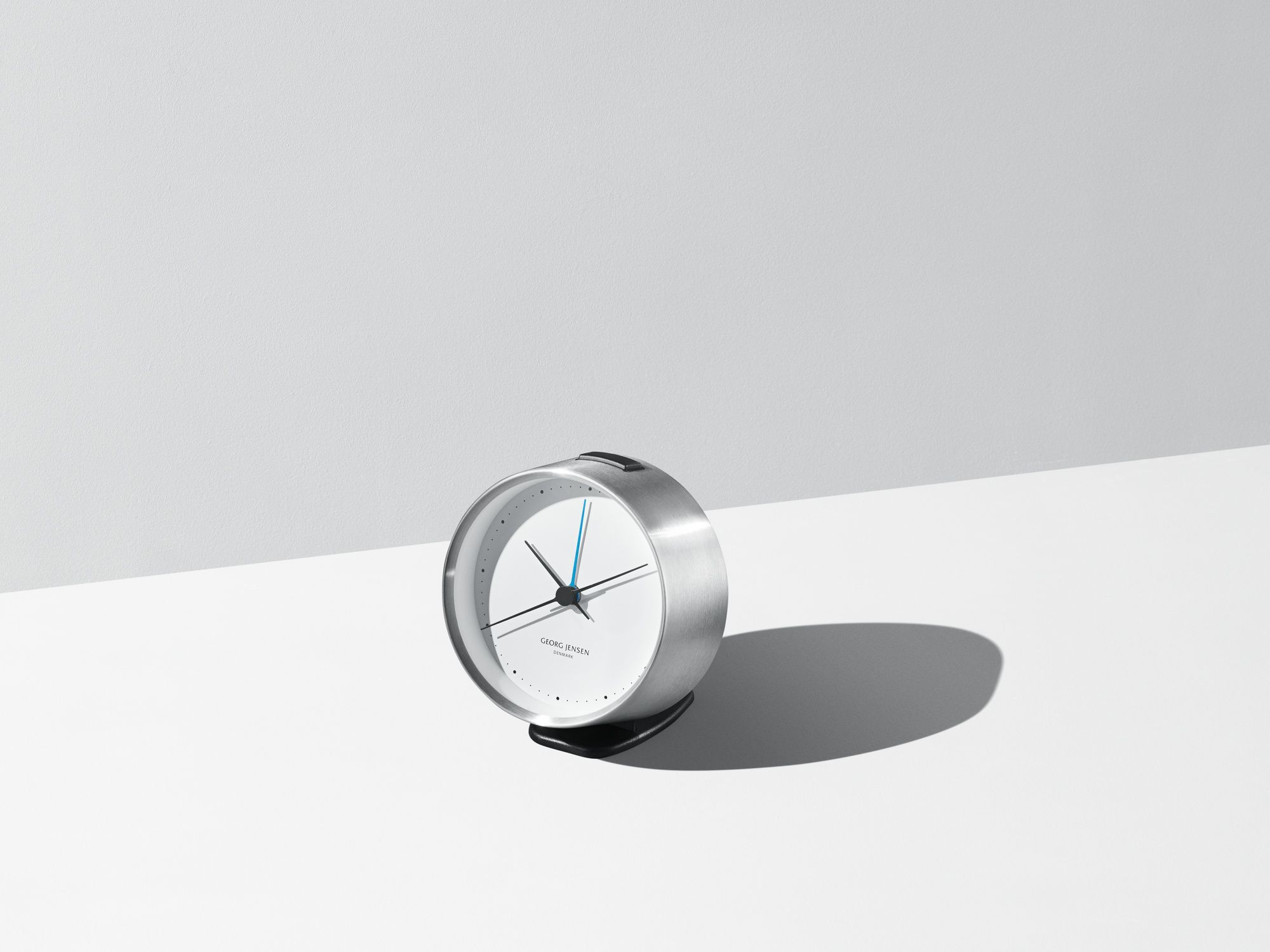 Hk Clock W Alarm Steel White 10 Cm Georg Jensen Clock Wall Clock Beautiful Gift Wrapping