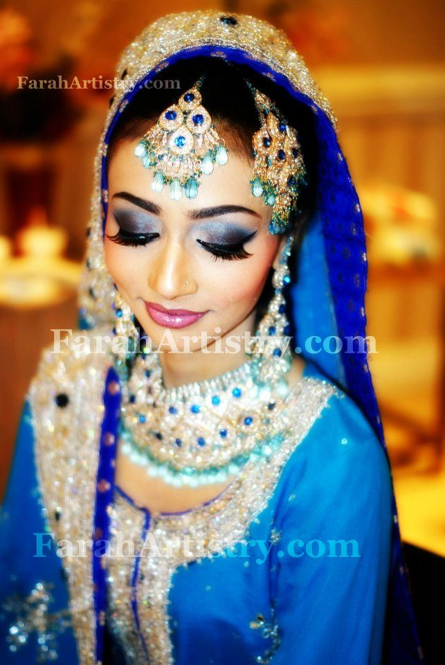 Royal Blue Valima Bridal Makeup Couple Pictures Cute Marriage