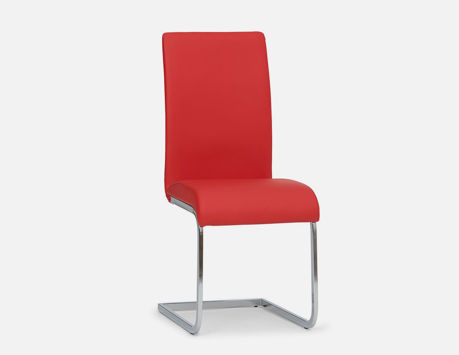 Red Cantilever Dining Chair Structube Boston White Dining